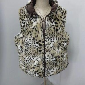 Valerie Stevens ladies faux fur reversible vest